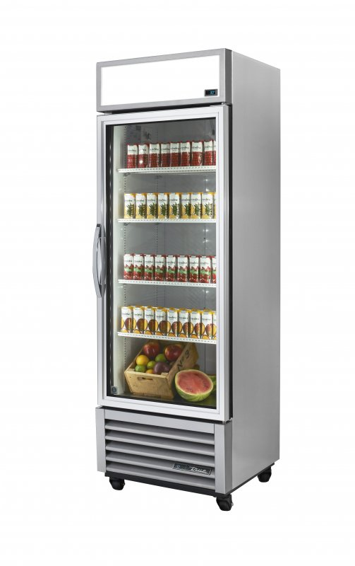 True 1 Glass Door Display Merchandiser Fridge - GDM-19T ALUM