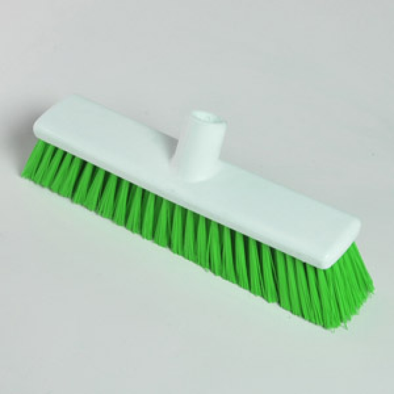 "12"" Hygiene Broom Head - Stiff - Green"